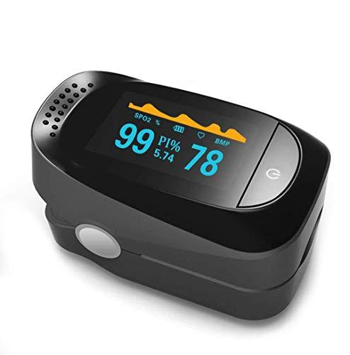 QKa Pulsossimetro, Fingertip Blood Ossigeno saturazione Monitor SPO2 Sensore misuratore Quattro direzioni di visualizzazione, Sei modalità di rilevamento