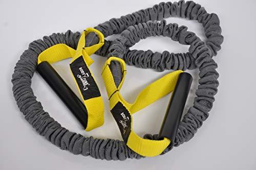 DITTMANN Premium Body Tube Expander Fitnessband Nylonummantelung gelb/leicht
