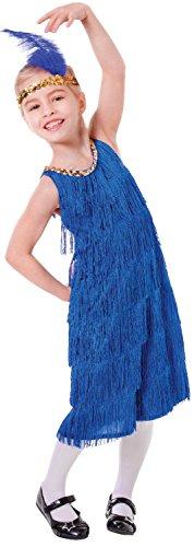 Bristol Novelty CC469 Flapper Kleid, Blau