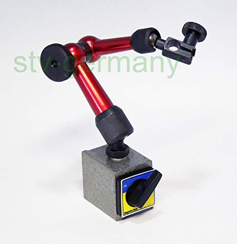 Messuhrhalter | magnetisch | Magnetfuß/Magnetstativ | in klein groß XL | in blau rot gelb silber (klein, rot)