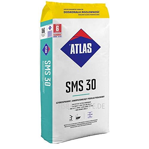 Ausgleichsmasse selbstverlaufend schnellbindend für innenbereich Zementbasis 3-30 mm ATLAS SMS 30 25Kg