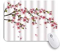 NIESIKKLAマウスパッド 桜の美しい日本ピンクフラワーアート絵画画像 ゲーミング オフィス最適 高級感 おしゃれ 防水 耐久性が良い 滑り止めゴム底 ゲーミングなど適用 用ノートブックコンピュータマウスマット