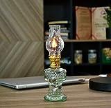 Glass Kerosene Lamp,Retro Paraffin Lamp, Oil Lamps for Indoors Emergency Light Hurricane Lamp Home...