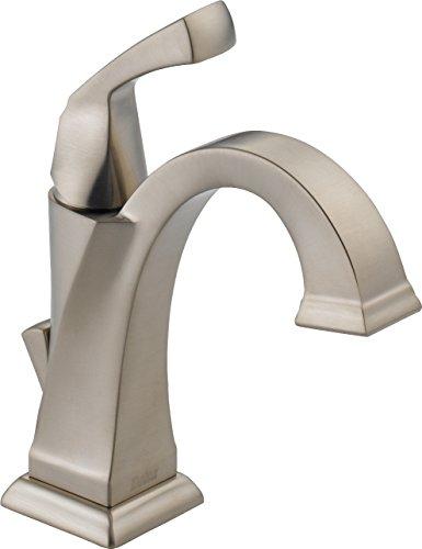 Delta Faucet Dryden Single Hole Bathroom Faucet Brushed Nickel, Single Handle Bathroom Faucet,...