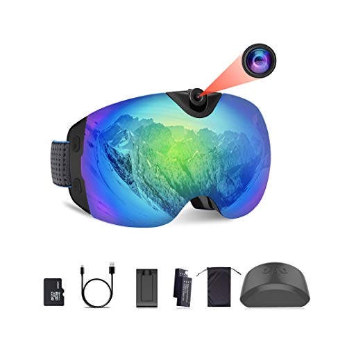 OhO Camera Ski Goggles, Anti-Fog Snowboard Goggles with UV400 Protection Dual Ski Lens, 4K WiFi and 24MP Adjusted Action Camera, Low Temperature Working Battery (S6 Model)