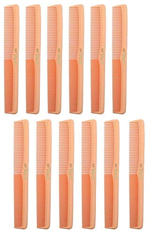 マット方向鯨7 inch All Purpose Hair Comb. Hair Cutting Combs. Barber's & Hairstylist Combs. Coral Peach. 12 Units. [並行輸入品]