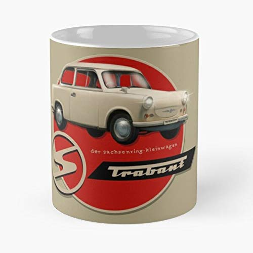 5TheWay Recreated Mug Poster Motormaniac Trabant by Best 11 oz Kaffeebecher - Nespresso Tassen Kaffee Motive
