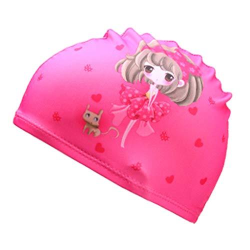 Bonnet de bain Cartoon pour enfants,Ewendy bonnet de bain impression animal Chapeau de sport imperméable pour enfants Costume pour bébé 2-6 ans