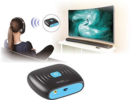 auvisio Adapter, Bluetooth: 2in1-Audio-Sender und -Empfänger mit Bluetooth 4.2, 10 m Reichweite (Adapter TV, Bluetooth)