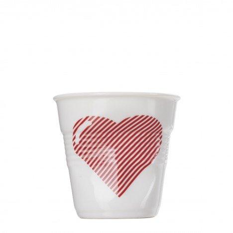 Gobelet-vasos de café revol, 18 cl, diseño de corazón