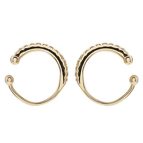 NECKLACEXSJ Orecchini in Argento Sterling 925 con Diamanti Orecchini Orecchino personalità Tendenza Design Orecchio Osso Clip Senza Orecchini