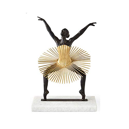 RFGTH Statue Ornaments Sculptures Dancing Character Living Room Desktop Office Decoration Crafts Wedding Gift-As_Shown_26X20X36Cm