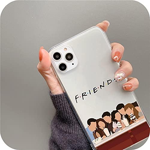 Central Perk Friends - Carcasa para iPhone 12 11 Pro Max X Xr Xs Max para iPhone 7 8 6 Plus cubierta linda transparente suave Case Kl94-Style2-para iPhone 7