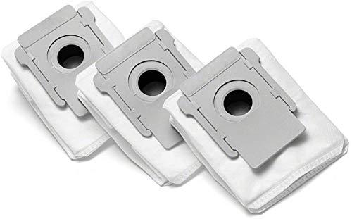 PIÈCES DE RECHANGE ACCUEIL - Pièces de rechange compatibles avec iRobot, e5 - i7 - i7 Plus, kit 3 pièces, Sacs pour aspirateur, sans fil, Série iRobot, Sacs