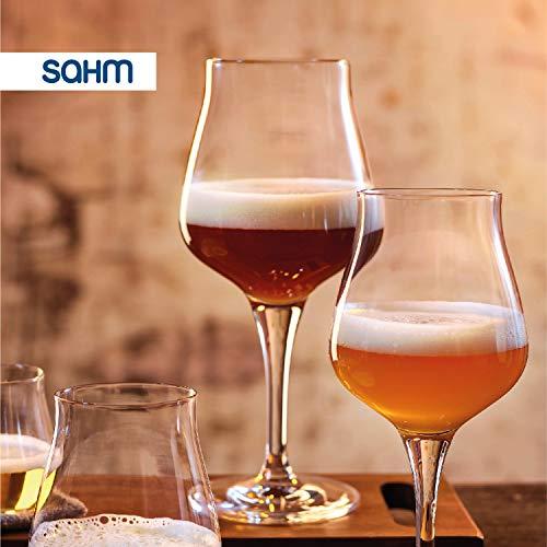 Sahm Biergläser Set 6 STK. | 420ml Bier Sensorik Pokal | Spülmaschinenfeste Bier Gläser | Ideales Gourmet Bier Geschenk | Tolle Craft Beer Gläser - 7