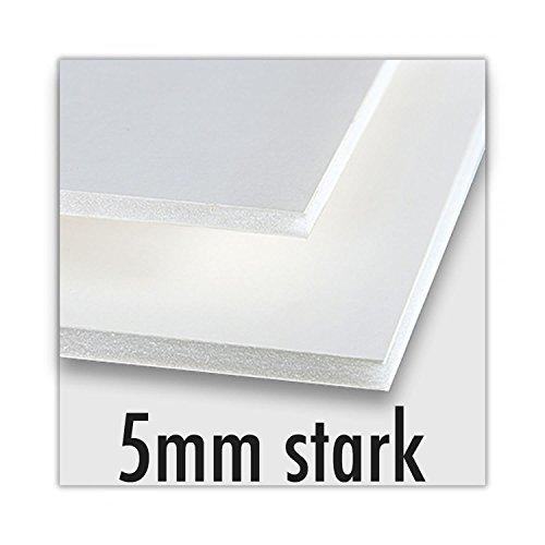 Rückwandmaterialien Leichtschaumplatte - Verschiedene Stärken und Größen (5mm stark, 80 x 100cm (1 Stück))