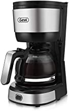Gevi 4-Cup Coffee Maker with Auto-Shut Off, Small Drip Coffeemaker Compact Coffee Pot Brewer Machine with Cone Filter, Glass Carafe and Hot Plate, Stainless Steel Finish