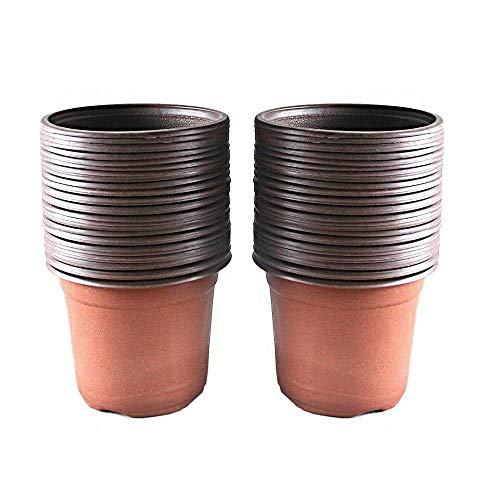 Lot de 100 pots en plastique pour semis et plant, 10 cm