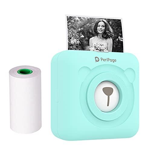 Aibecy Mini Impresora para movil,PeriPage Mini Pocket Wireless BT Impresora térmica Imagen...