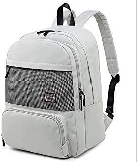 YXHM AU Women's Fashion Backpack 15.6 inch Computer Bag Large-Capacity Travel Backpack (Color : White)
