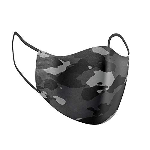 Mascarilla facial PM2.5 filtro doble capa elegir su diseño máscaras de tela reutilizables, Camo #1, Camuflaje #1