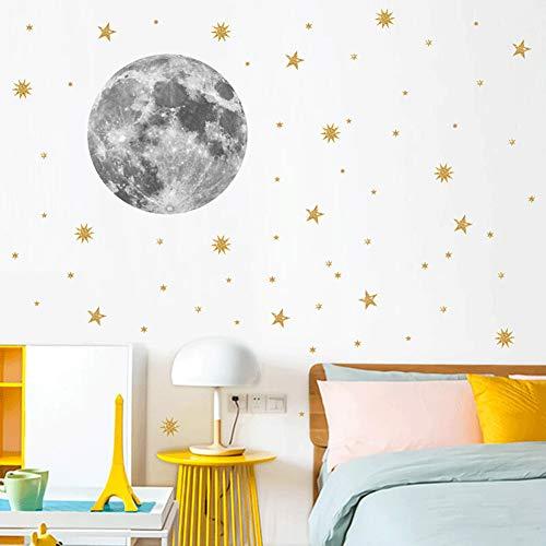 LPxdywlk Moon Planet Star Wandaufkleber Kinderzimmer Kindergarten Aufkleber Tapete Kunst Dekoration