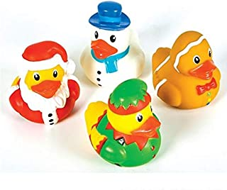 Rhode Island Novelty 2 Inch Holiday Character Chstmas Rubber Ducks (12 Piece)