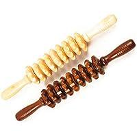 ROSENICE Masajeador de cuerpo Massager de madera del masajeador del vientre massager del rodillo para la mujer 2pcs
