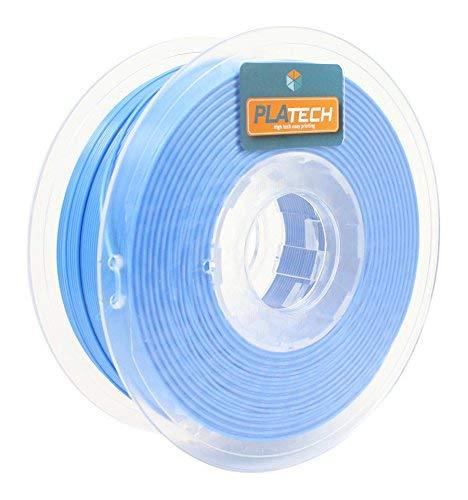FFFworld 250 g PLA Tech 1,75 mm - Filamento PLA 1,75 con bobina di precisione Optiroll - Pla Filament blu