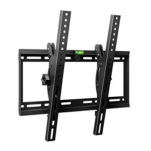 Famgizmo Soporte de Pared para TV 23-55 Pulgadas, Inclinable, VESA 100X100mm-400x400mm, Carga 95KG, para Televisores de Pantalla Plana(LED LCD Plasma 4K 3D), con Nivel de Burbuja