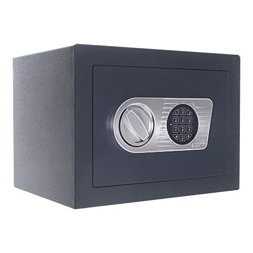 Wertschutzschrank HomeDesign Safe HDS-EN0-26, Elektronikschloss, Safe, kleiner Tresor, Bolzenverriegelung
