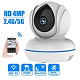 YA Cámara IP 4MP Full HD WiFi Cámara 2.4G / 5G WiFi Baby Monitor Cámara...