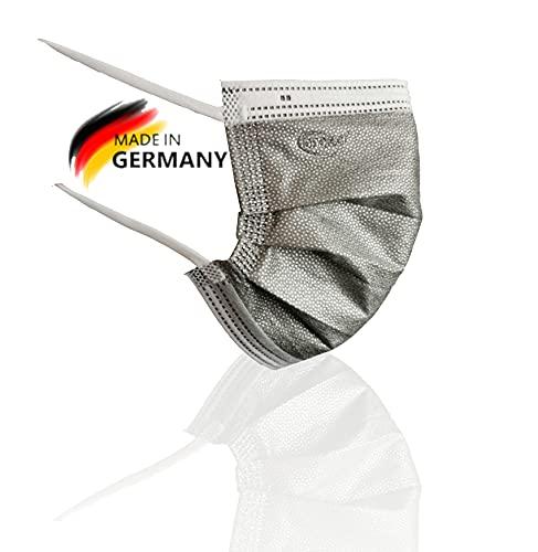 ionotech SilverStrike One, Die viruzide Maske, 20 Stück, Mund & Nasenschutz Typ IIR, Made in Germany, Zertifiziert nach DIN 14683, ISO 18184 (20)