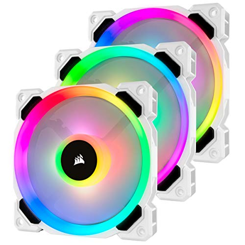 Corsair LL120 RGB - Paquete de 3 ventiladores (Lighting Node Pro, LED 120 mm) blanco (CO-9050092-WW)