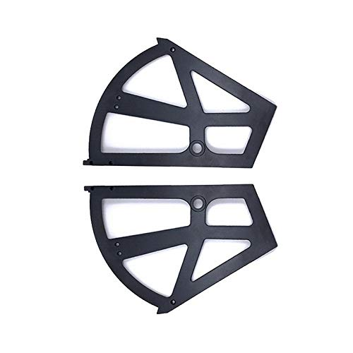 BE-TOOL Zapatero Flip Frame 228 x 255 mm, plástico para zapatos, bisagras de gabinete de almacenamiento de dos capas para gabinete, zapatero negro (1 par)