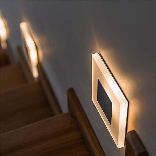 Twstyfal Treppenleuchte Treppenbeleuchtung Wandeinbauleuchte Beleuchtung von, Treppenleuchte, Wandeinbaustrahler, Treppenlicht Wandstrahler 230V Warmweiß (1 Pack)