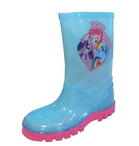 New Girls/Childrens Blau My Little Pony Character Gummistiefel - Hellblau - UK GRÖßEN 6-12 - Unisex Erwachsene', Hellblau, 24