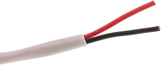 Speaker Cable, White, Pure Copper, cm/in-Wall Rated, 14/2 (14 AWG 2 Conductor), 105 Strand / 0.16mm, Pullbox, 500 Foot
