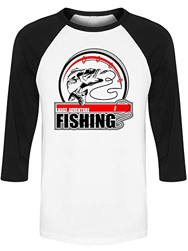 Fishing Adventure With Pole Raglan Men's -Image by Shutterstock