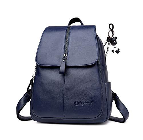 DEERWORD Damen Rucksack Handtaschen Elegant Anti Diebstahl Frau Stadtrucksack Henkeltaschen Tagesrucksack Blau