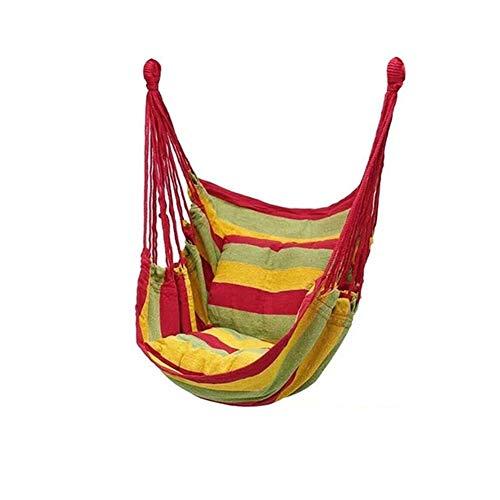 SSGLOVELIN Portátil Cuerda Colgando Hamaca Columpio Asiento, el Viaje de Camping Silla de la Hamaca Relax Silla Colgante del oscilación for Interior/Exterior (Color : 10)