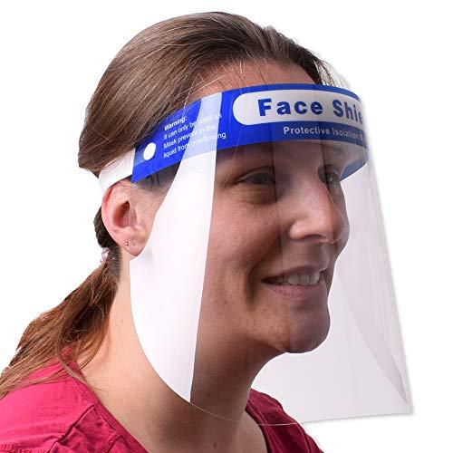TE-Trend Vollvisier Gesichtsvisier Gesichtsschutz Face Shield Gesichtsschirm Spuckschutz Visiermaske Kunststoff Transparent