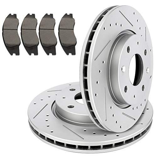 TUPARTS – Rotores perforados delanteros y pastillas de freno de cerámica para Kia Spectra 2004-2009,…