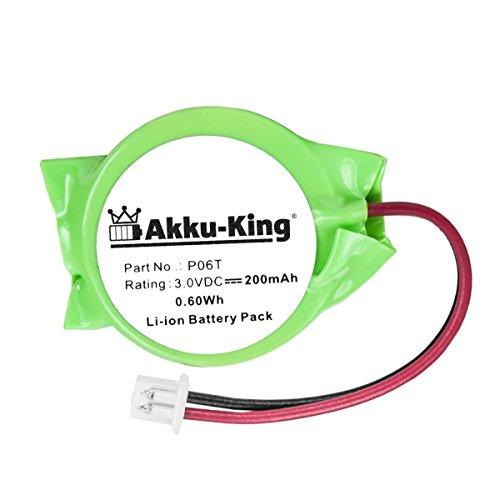 Akku-King Backup, CMOS Batterie für Dell Alienware M11X, M14X, M15X, M17X- ersetzt P06T - Li-Ion 200mAh