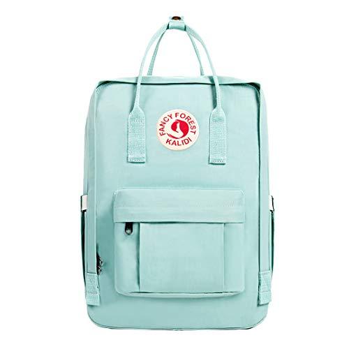 KALIDI Casual Rucksack für Damen, 38,1 cm (15 Zoll) Laptoptasche, klassischer Rucksack, Camping, Reisen, Outdoor, Tagesrucksack, College, Schultasche, mintgrün (Grün) - CASUAL BACKPACK