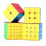 ROXENDA Speed Würfel Set, Zauberwürfel Set 2x2x2 3x3x3 Skewb Pyramid Smooth Puzzle Würfel (2x2...