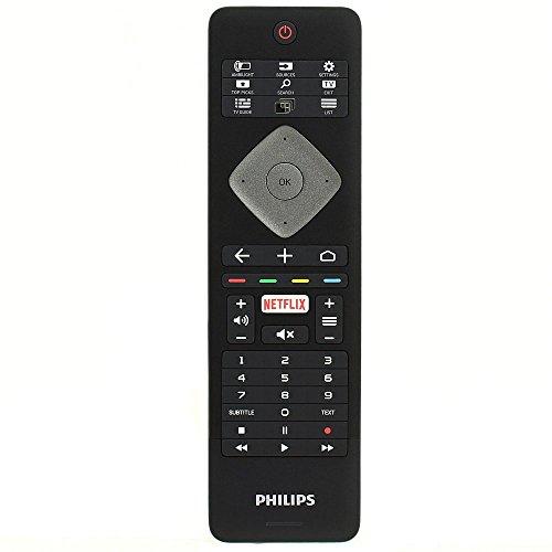 Philips 996596000116 YKF400-002 Original Fernbedienung für 65PUS7101 75PUS7101 4K Ultra Slim LED-Fernseher mit QWERTY-Tastatur Netflix und Ambilight-Tasten