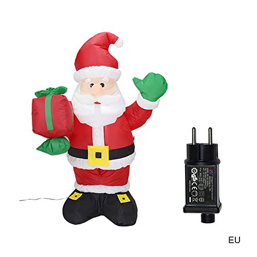 JHYXX 1.35m Inflables Mode Santa Claus Night Light Outdoor Garden Toys Christmas Party Inflables Funny Toys for Children,EU