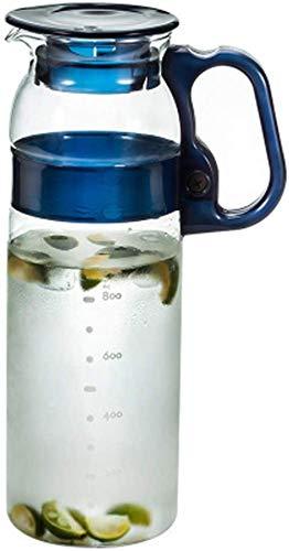Tetera de cristal para jugo de la jarra japonesa de la tetera de vidrio fría de alta capacidad de resistencia a altas temperaturas de 1,3 l juego de té