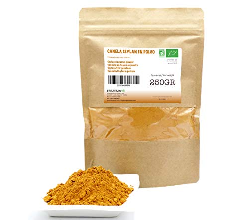 FRISAFRAN - Canela Ceylan en polvo Ecológica (250Gr)